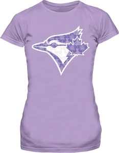Toronto Blue Jays Youth Floral Lavender T-Shirt by Bulletin