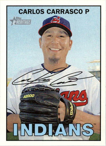 Photo of 2016 Topps Heritage #121 Carlos Carrasco