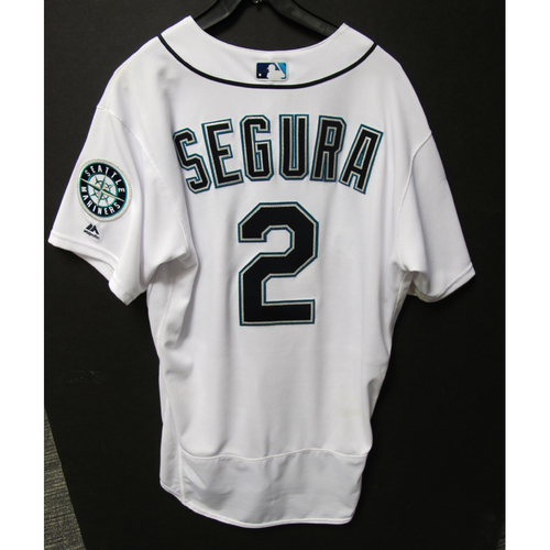Seattle Mariners Jean Segura Game Used Home White Jersey - 7/20/17 vs. Yankees