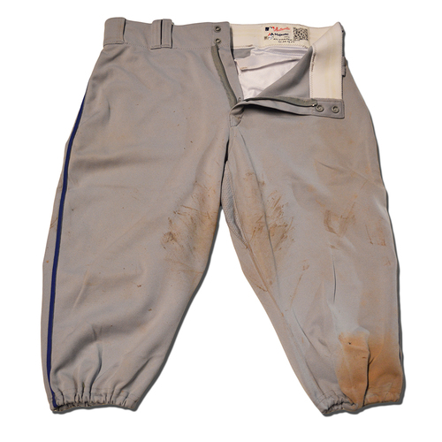 Todd Frazier #21 - Team Issued Road Grey Pants - 2018 Season