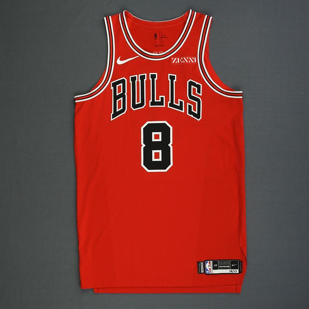 save off 0de95 5a390 Zach LaVine - Chicago Bulls - Mexico Games - Game-Worn Icon ...