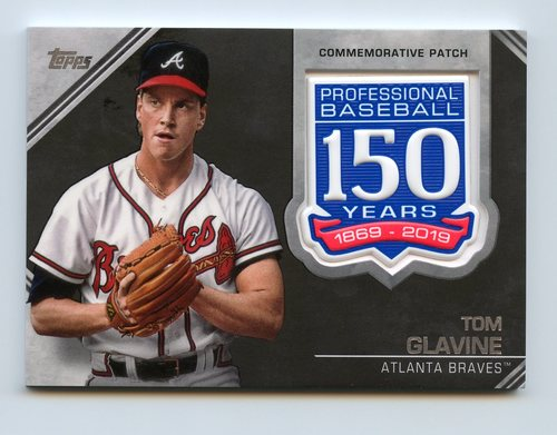 Photo of 2019 Topps 150th Anniversary Manufactured Patches #AMPTGL Tom Glavine S2