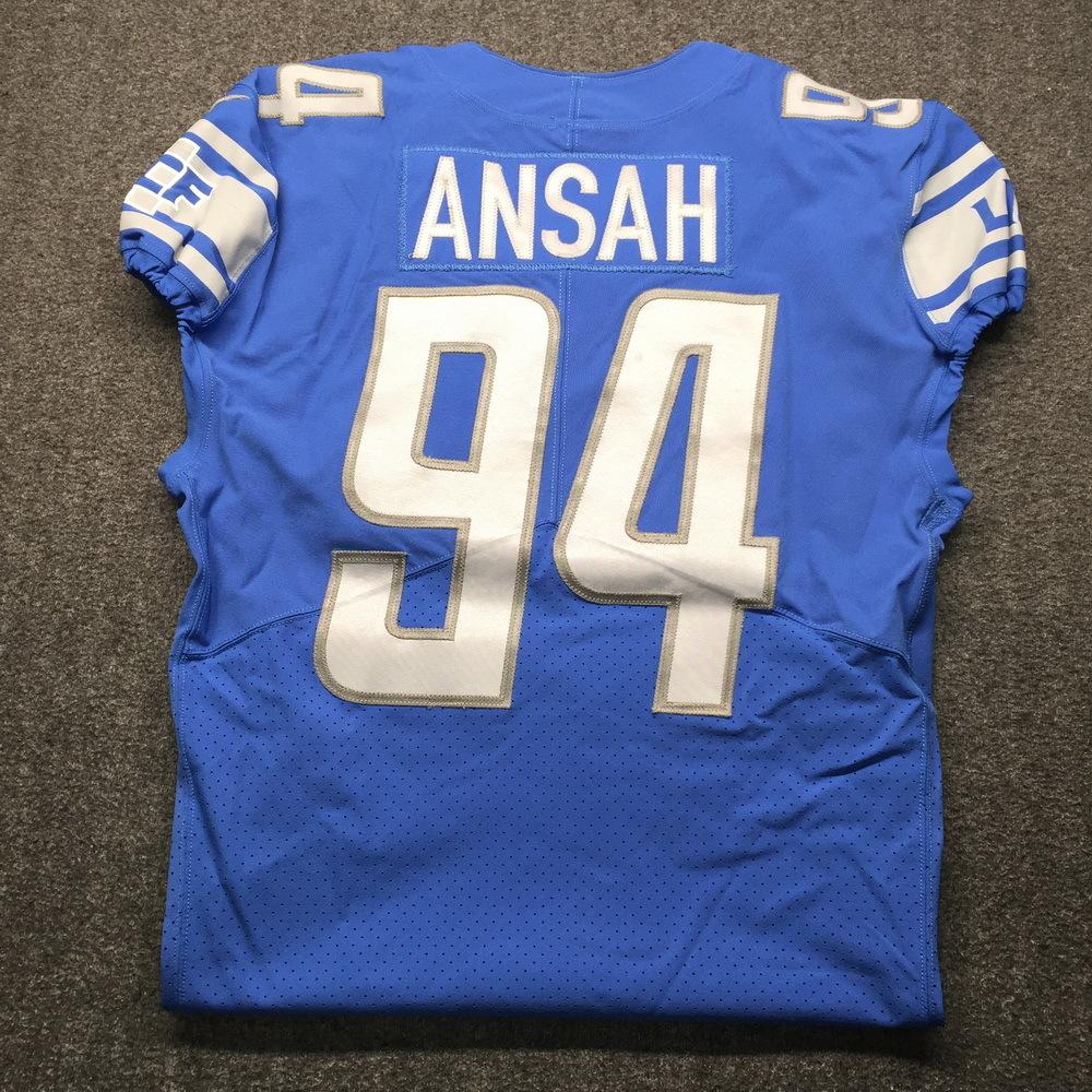 NFL Auction   Crucial Catch - Lions Ezekiel Ansah Game Worn Jersey ...