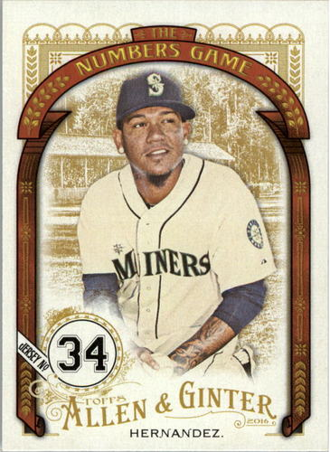 Photo of 2016 Topps Allen and Ginter The Numbers Game #NG19 Felix Hernandez