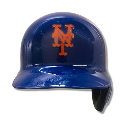Photo of Sam Haggerty #19 - Game-Used Blue Batting Helmet - Mets vs. Braves - 9/29/19