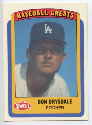 Photo of 1990 Swell Baseball Greats #62 Don Drysdale