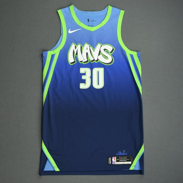Image of Seth Curry - Dallas Mavericks - Game-Worn City Edition Jersey - 2019-20 Season