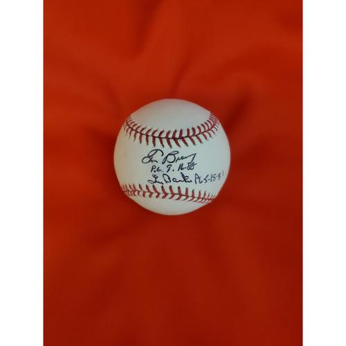 Tom Browning & Len Barker Autographed Baseball