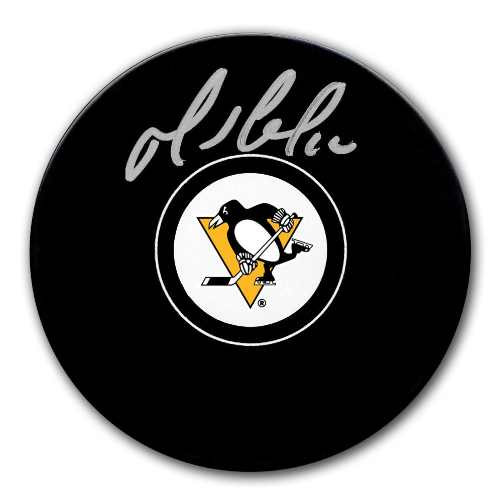 Mario Lemieux Pittsburgh Penguins Autographed Puck