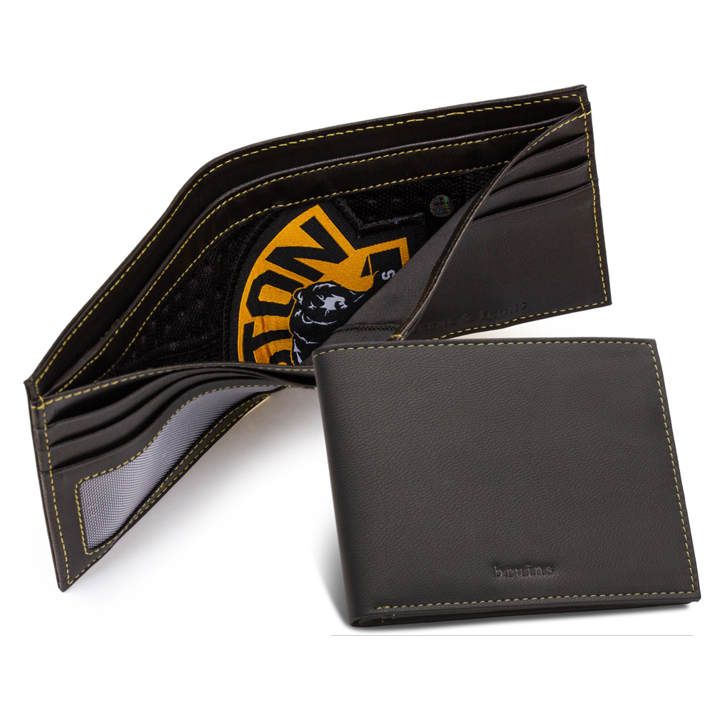 Boston Bruins Game Used Jersey Emblem Wallet