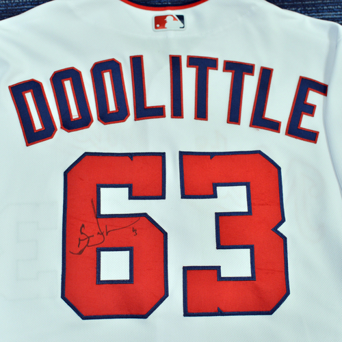 Washington Nationals Philanthropies Jerseys Off Their Back Auction - Sean Doolittle - Autographed Team-Issued Jersey - Size 48 - NOT MLB Authenticated - Certificate of Authenticity Included