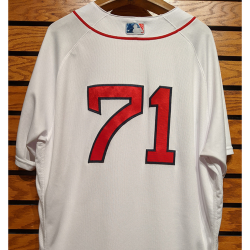 Photo of Trevor Kelley #71 Game Used Home White Jersey
