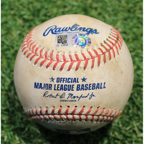 Photo of Game-Used Baseball: Nick Madrigal 16th Career Hit & Nomar Mazara 536th Career Hit (CWS @ KC 9/4/20)