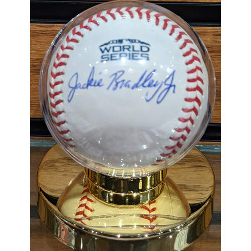 Photo of Jackie Bradley Jr. 2018 World Series Autographed Baseball