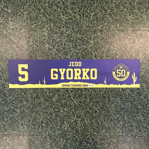 Jedd Gyorko 2020 Team-Issued Spring Training Locker Nameplate