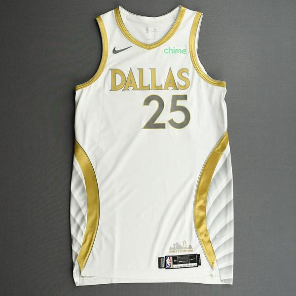 Image of Wesley Iwundu - Dallas Mavericks - Game-Worn - City Edition Jersey - 2020-21 NBA Season