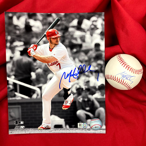 Photo of Matt Holliday Autographed Baseball and Photo