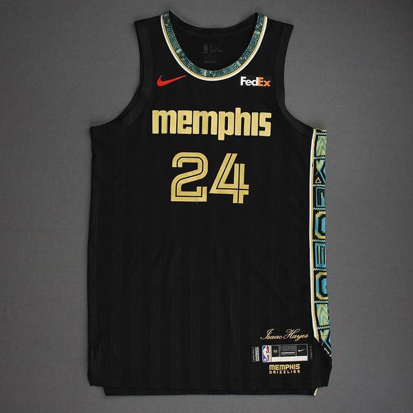 Image of Dillon Brooks - Memphis Grizzlies - Game-Worn City Edition Jersey - Scored a Game-High 31 Points - 2021 NBA Playoffs