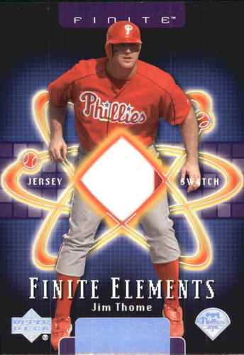 Photo of 2003 Upper Deck Finite Elements Game Jersey #JT Jim Thome