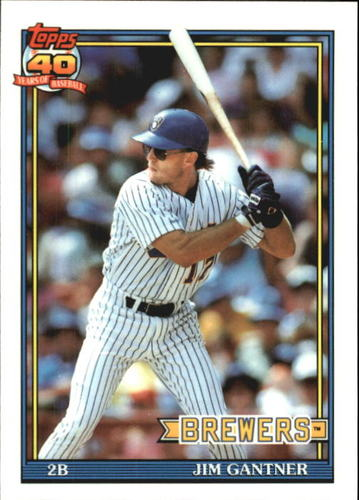 Photo of 1991 Topps Tiffany #23 Jim Gantner