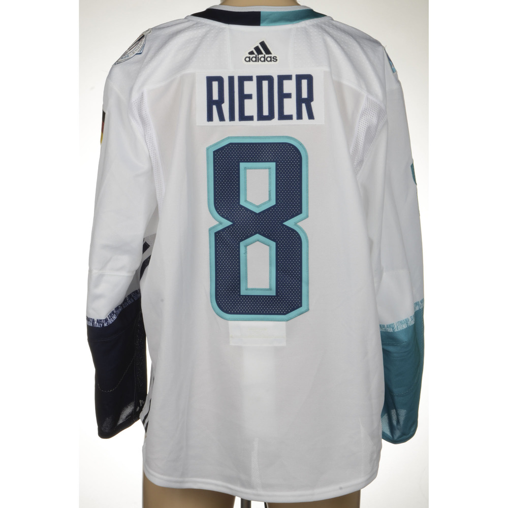 Tobias Rieder Arizona Coyotes Game-Worn 2016 World Cup of Hockey Team Europe Jersey, Worn In Semifinal Game Against Team Sweden On September 25th