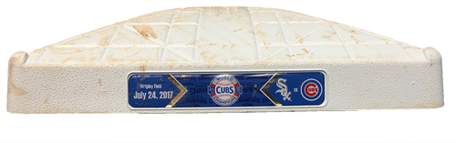 Game-Used 2nd Base -- Used in Innings 7 through 9 -- White Sox vs. Cubs -- 7/24/17
