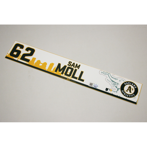 Sam Moll 2017 Home Clubhouse Locker Nameplate