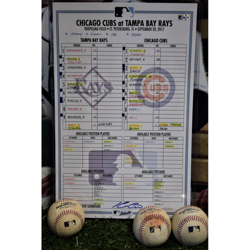 Photo of Line Up Card - September 20, 2017 - Rays (8) v Cubs (1)