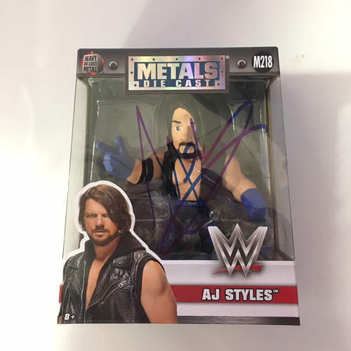 AJ Styles SIGNED WWE Metals Diecast Figure