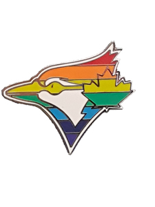 Toronto Blue Jays Pride Rainbow Lapel Pin by Aminco