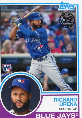 Photo of 2018 Topps '83 Rookies #839 Richard Urena