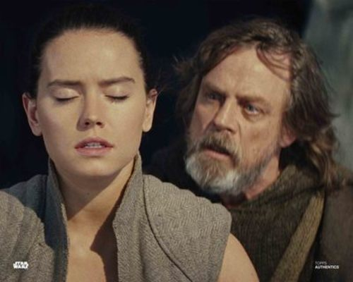 Luke Skywalker and Rey