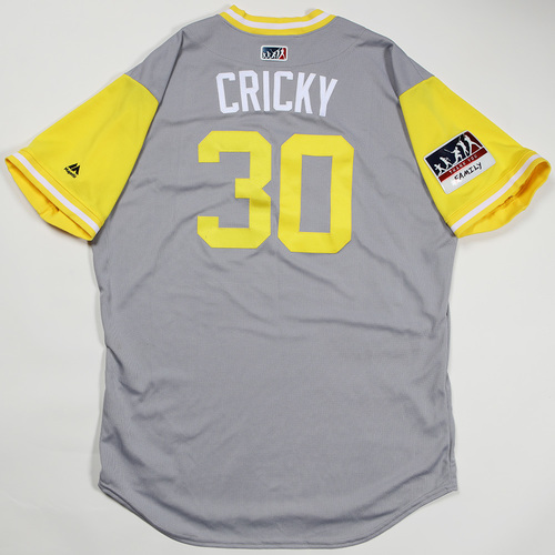 "Photo of Kyle ""Cricky"" Crick Pittsburgh Pirates Game-Used Jersey 2018 Players' Weekend Jersey"