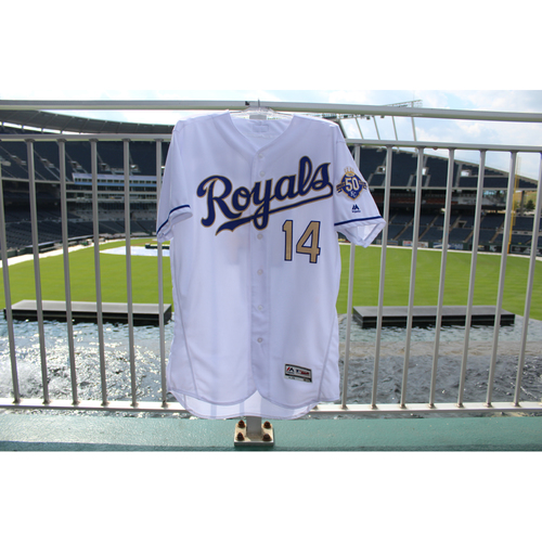 Photo of Game-Used Jersey: Brett Phillips (Size 46 - MIN @ KC - 9/14/18)