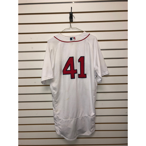 Photo of Chris Sale Game-Used September 16, 2018 Home Jersey