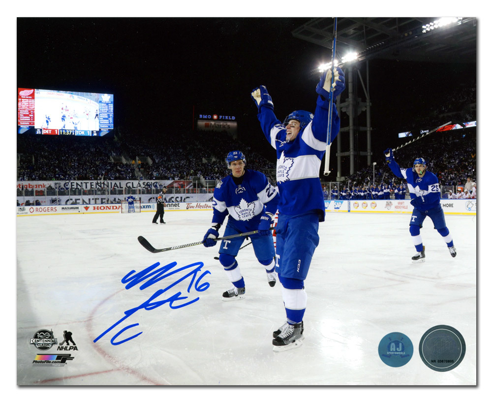 Mitch Marner Toronto Maple Leafs Signed 2017 Centennial Classic 16x20 Photo