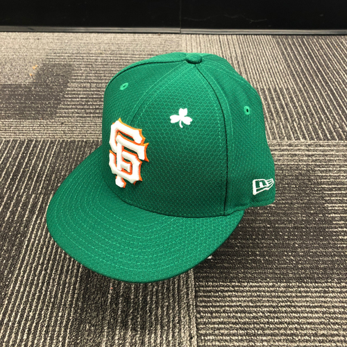 Photo of 2019 Game Used St. Patrick's Day Cap worn by #7 Ty Blach on 3/17 vs. Kansas City Royals - Size 7