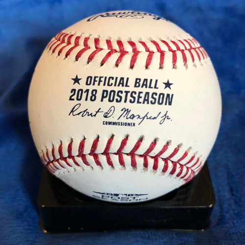 Photo of UMPS CARE AUCTION: 2018 NLDS Crew Signed Baseball
