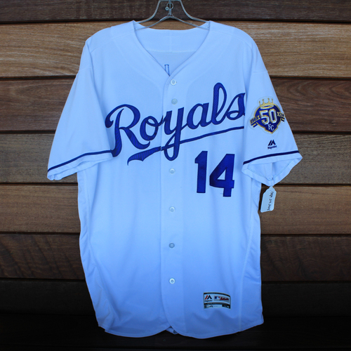 Photo of Game-Used Jersey: Brett Phillips (Size 46 - CLE @ KC - 9/29/18)