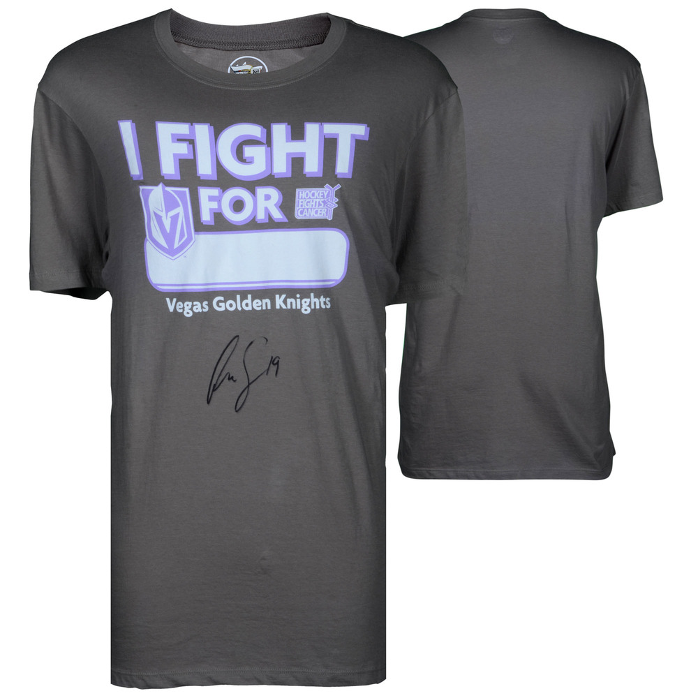 Reilly Smith Vegas Golden Knights Autographed Hockey Fights Cancer T-Shirt