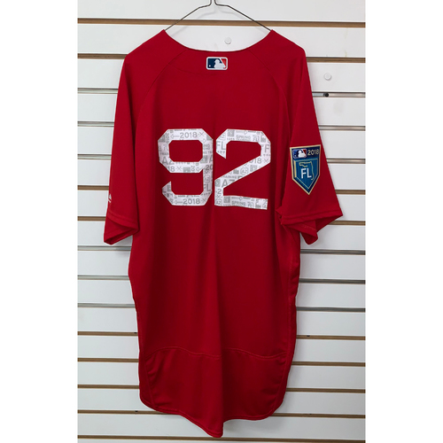 Photo of #92 Team Issued 2018 Spring Training Jersey