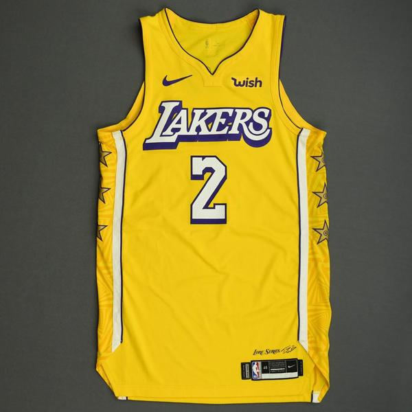 Image of Quinn Cook - Los Angeles Lakers - Christmas Day' 19 - Game-Worn City Edition Jersey - Dressed, Did Not Play