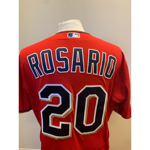 Photo of Minnesota Twins - 2019 Game-Used Spring Training Jersey - Eddie Rosario