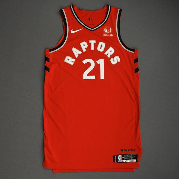 Image of Matt Thomas - Toronto Raptors - Game-Worn Icon Edition Jersey - NBA Japan Games - 2019-20 NBA Season