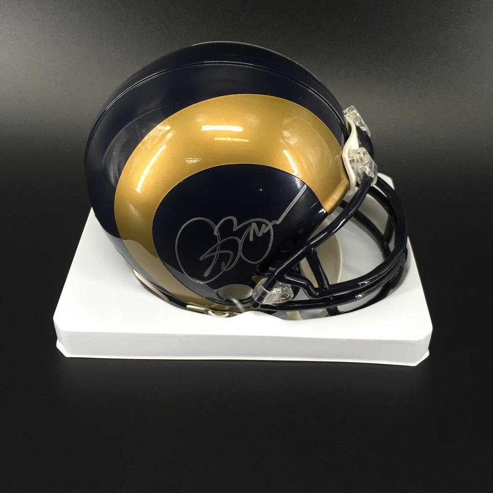 PCC - Rams Isaac Bruce Signed Mini Helmet