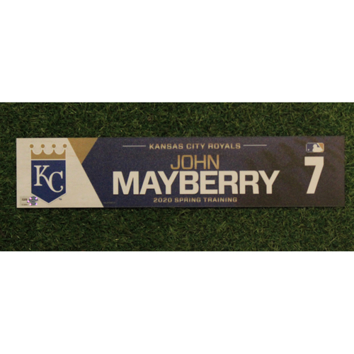 Photo of Game-Used Spring Training Locker Tag: John Mayberry #7