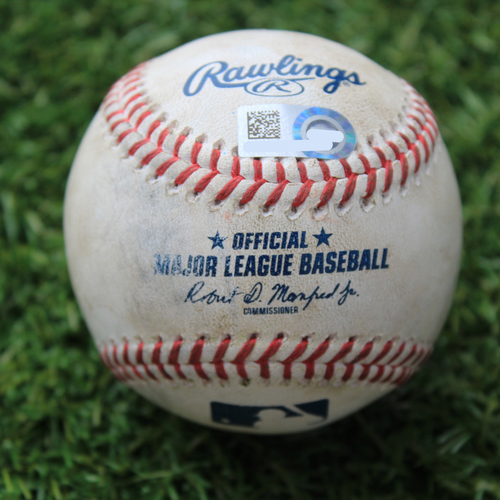 Photo of Game-Used Baseball: Edwin Encarnacion 1812th Career Hit (CWS @ KC 8/2/20)