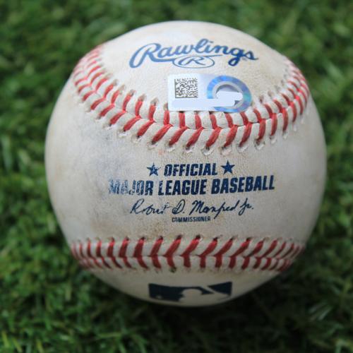 Game-Used Baseball: Edwin Encarnacion 1812th Career Hit (CWS @ KC 8/2/20)