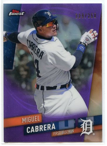 Photo of 2019 Finest Purple Refractors #14 Miguel Cabrera