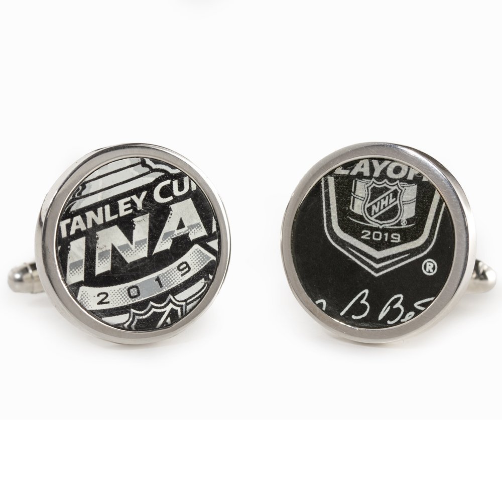 2019 St. Louis Blues Stanley Cup Finals Game Used Round Cuff Links - Game 5